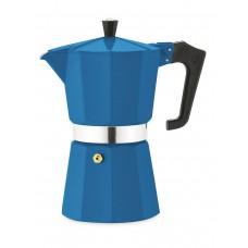 Кофеварка гейзерная Pezzetti ITalexpress бирюзовая на 6 порций