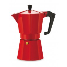 Кофеварка гейзерная Pezzetti ITalexpress красная на 6 порций