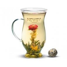 Чай зеленый, распускающийся Newby Черника, 115 гр.