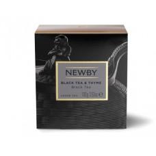 Чай черный, листовой Newby Черный с Чабрецом, 100 гр.