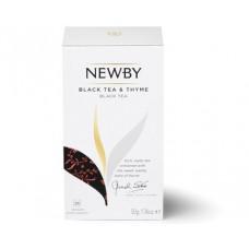 Чай черный, пакетированный Newby Черный с Чабрецом, 25*2 гр.