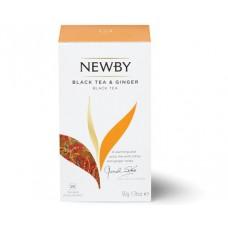 Чай черный, пакетированный Newby Черный с имбирём, 25*2 гр.