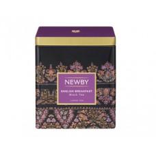 Чай черный, листовой Newby Английский завтрак, в жестяной банке 125гр.