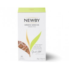 Чай зеленый, пакетированный Newby Зеленая Сенча, 25*2 гр.