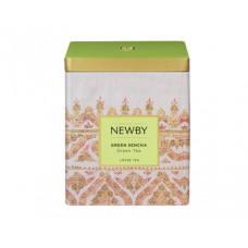 Чай зеленый, листовой Newby Зеленая Cенча, в жестяной банке 125 гр.