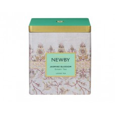 Чай зеленый, листовой Newby Цветок Жасмина, в жестяной банке 125 гр.