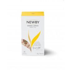 Чай зеленый, пакетированный Newby Зеленый Лимон, 25*2 гр