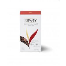 Чай черный, пакетированный Newby Индийский завтрак,25*2 гр
