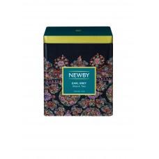 Чай черный, листовой Newby Эрл грей, в жестяной банке 125 гр.